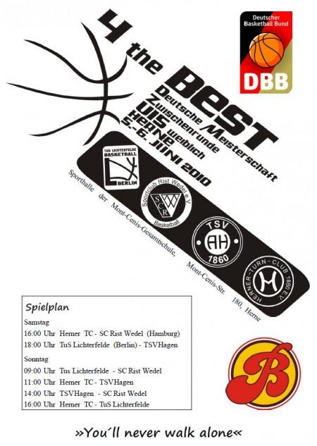 Plakat zur Zwischenrunde der Deutschen Meisterschaft der U15 (2010)