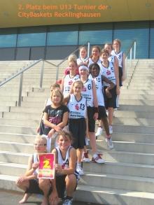 Das Team der U13-2 beim Turnier von Citybasket Recklinghausen am 11.9.