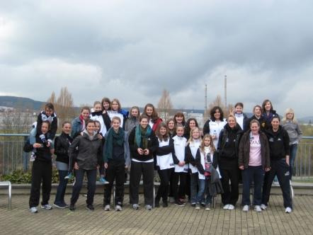 Gruppenforto der U13-2 auf ihrer Abschlussfahrt gemeinsam mit Phoenix Hagen Ladies