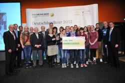 Die Verleihung vom Grünen Band am 12.11.2012 in Essen. Mit dieser vom Deutschen Olympischen Sportbund und der Commerzbank geförderten Auszeichnung wird die Talentförderung in Sportvereinen honoriert. Der Preis ist auf 5000 Euro dotiert