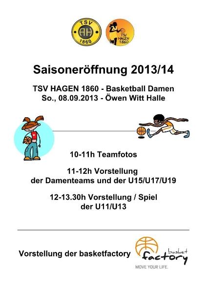 Flyer zur Saisoneröffnung 2013/14