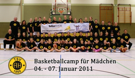 Gruppenfoto des Basketball-Camps 2011