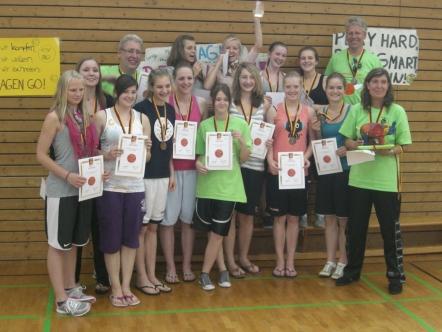 Die U15-1 nach dem Gewinn der Bronzemedaille bei Deutschem Meisterschaft 2010