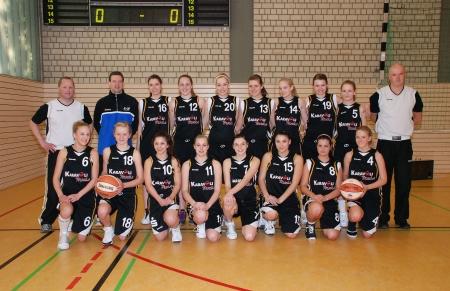 U17-1 Mannschaft 2009/10 mit Trainern